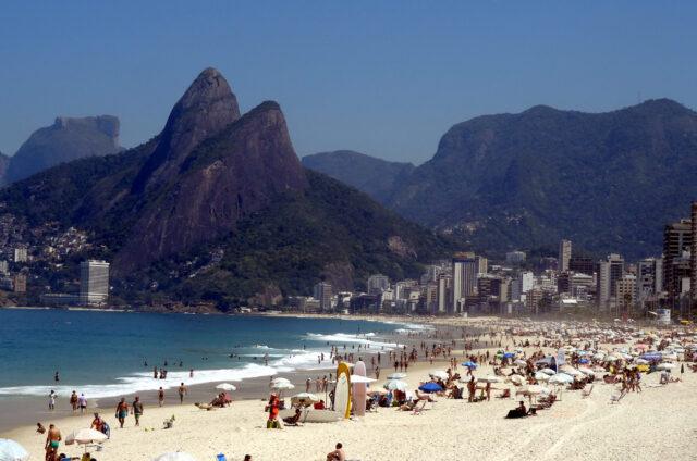 Pláž Ipanema a Leme, Rio de Janeiro, Brazílie