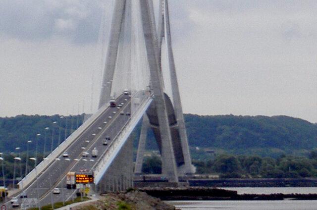 Pont de Normandie, Honfleur, Francie