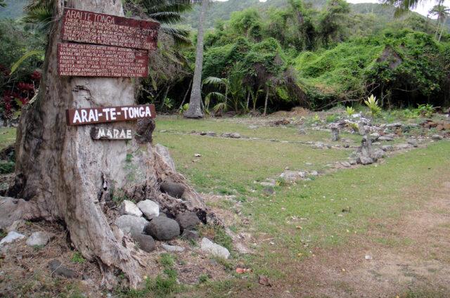 Posvátné místo marae, Rarotonga