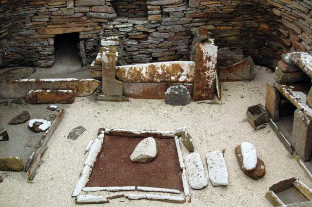 Prehistorické vykopávky Skara Brae, Orkneye, Skotsko