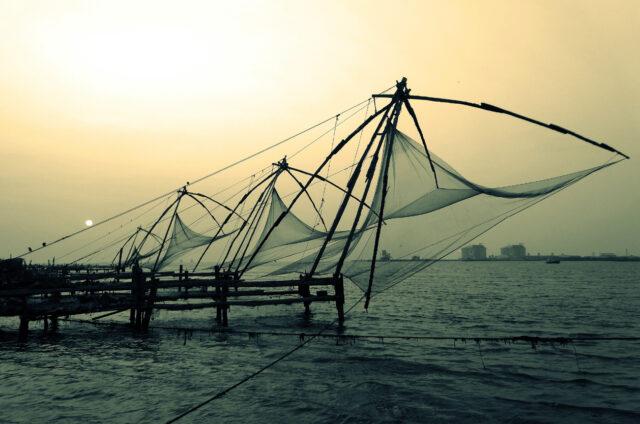 Rybářské sítě, Kóčin, Indie