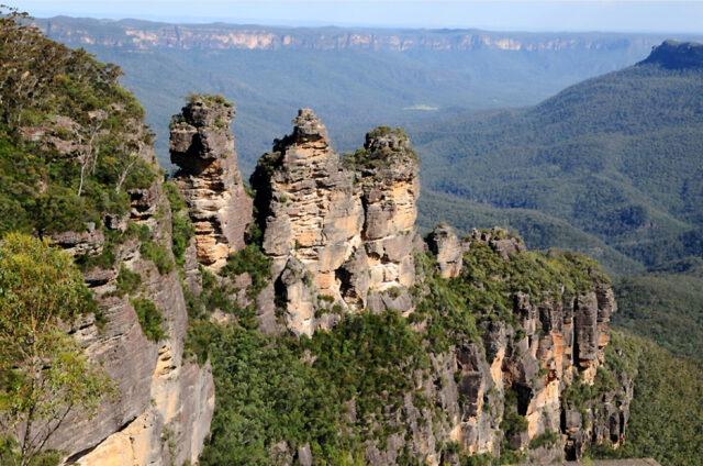 Skalní formace Tři sestry, Austrálie