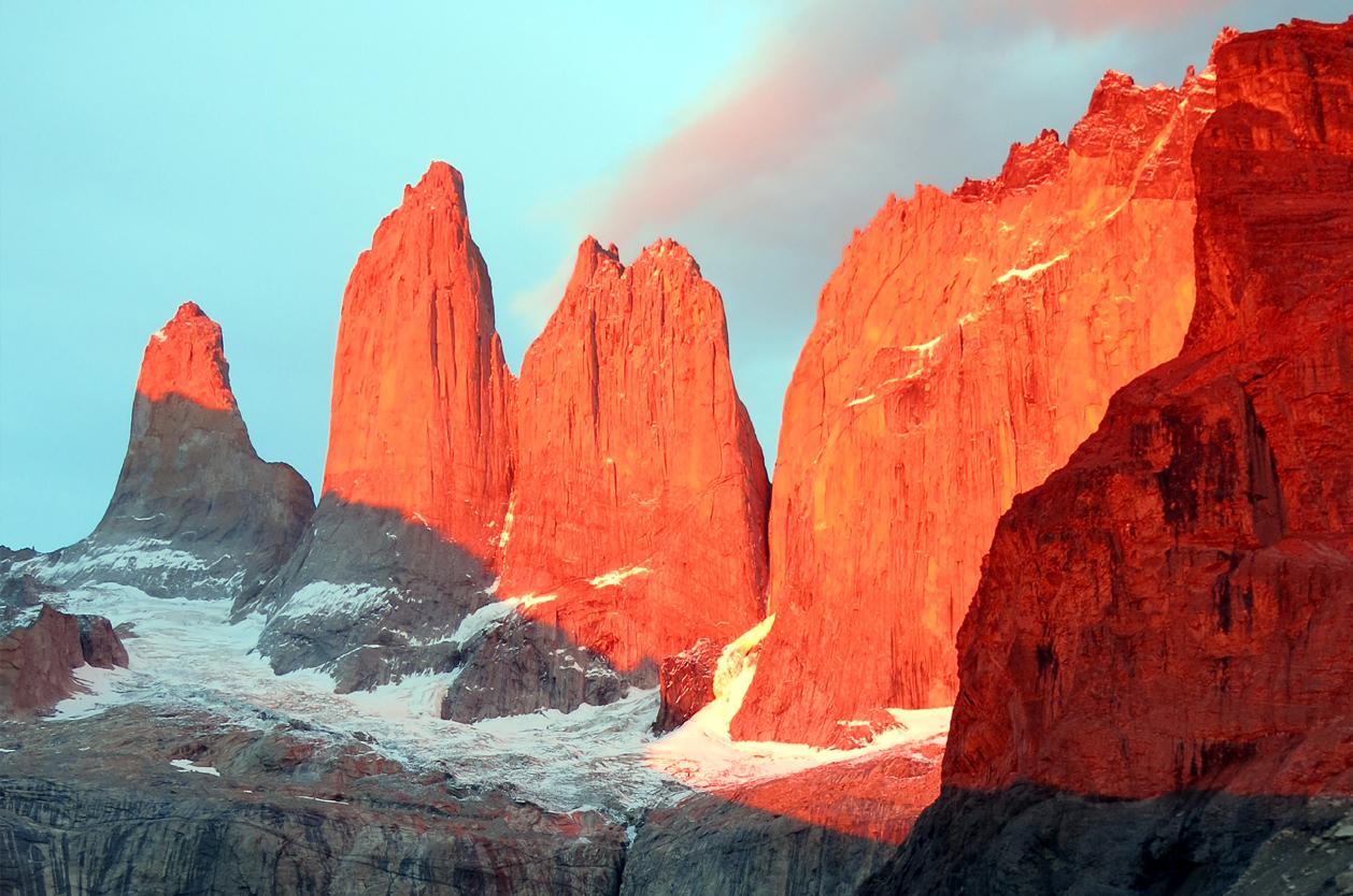 Skalní věže Torres del Paine, Chile
