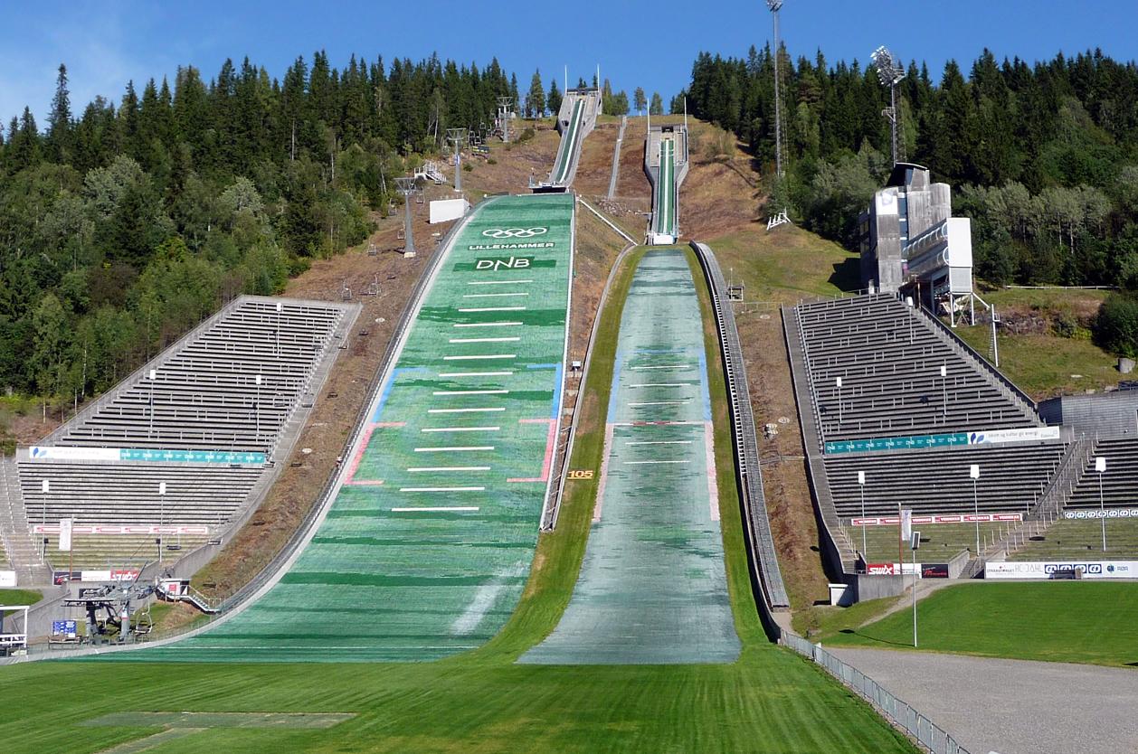 Skokanské můstky, Lillehammer, Norsko