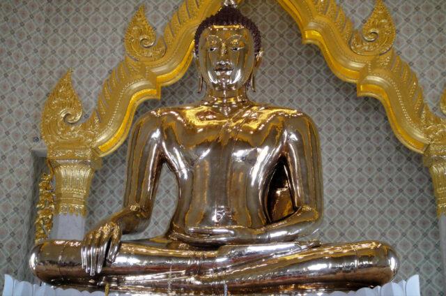 Socha zlatého Buddhy, Wat Traimit, Bangkok, Thajsko