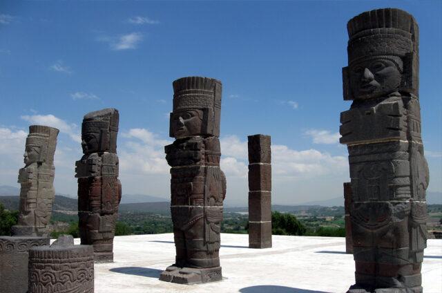 Sochy toltéckých válečníků, Tula, Mexiko