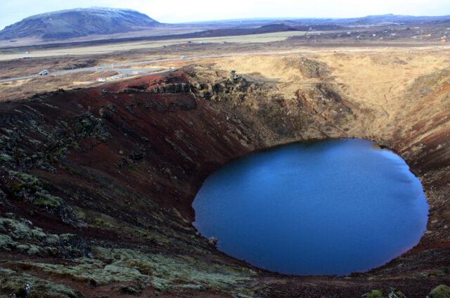 Sopečné jezero Kerid, Island