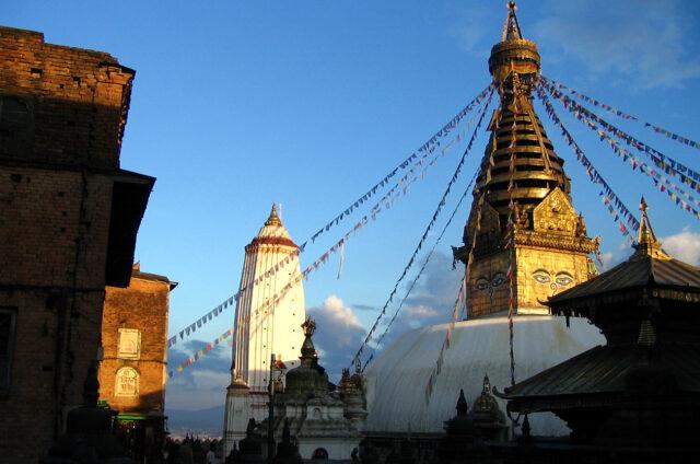 Stúpa Swayambunath, Káthmándú, Nepál