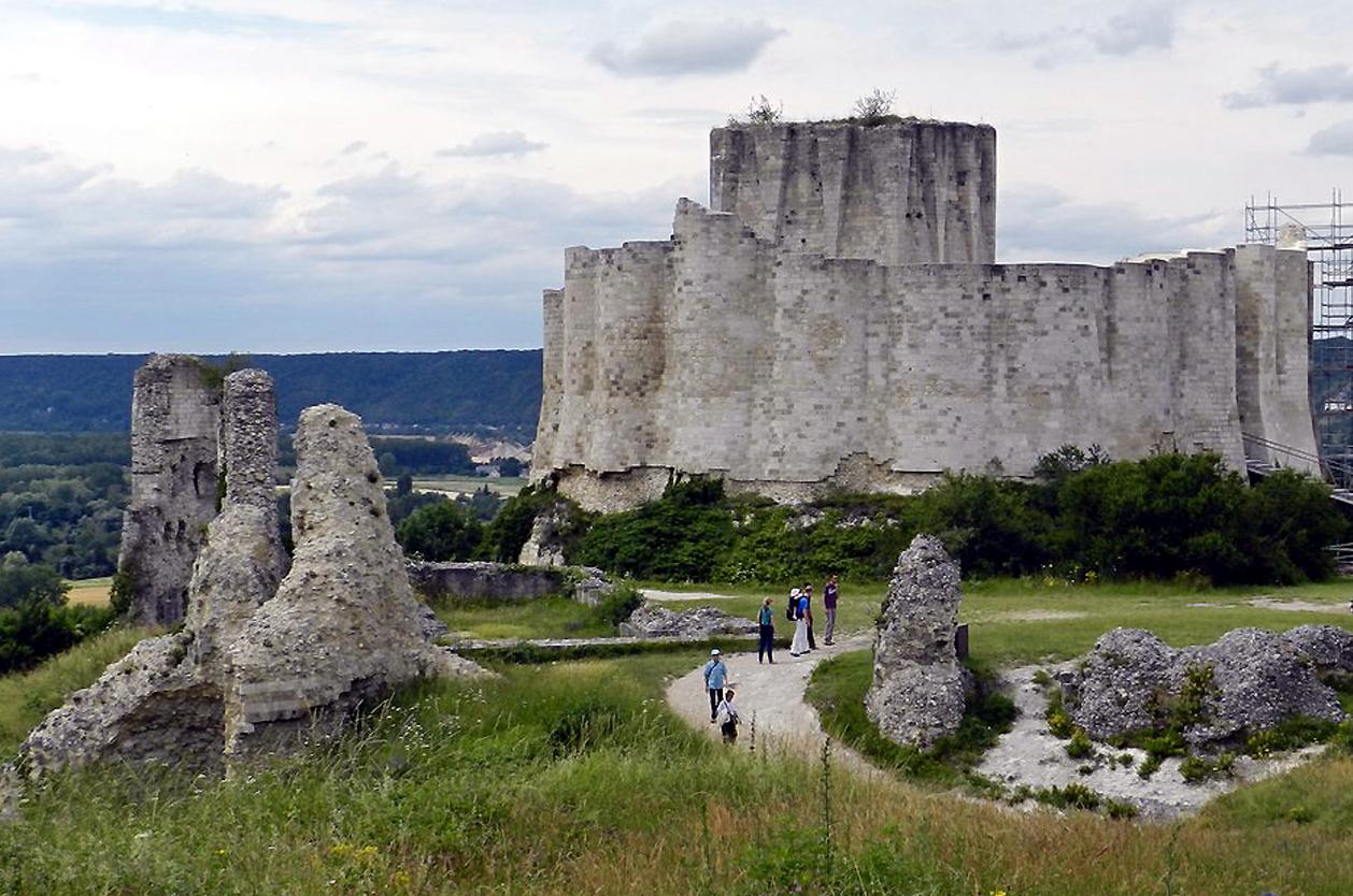 Středověký hrad Gaillard, Rouen, Francie
