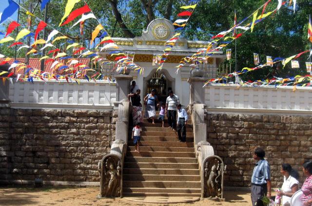 Strom Osvícení Buddhy, Anuradhapura, Srí Lanka