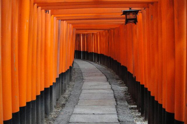Svatyně Fušimi Inari, okolí Kjóta, Japonsko