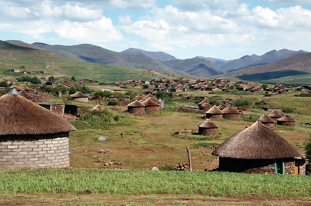 Tradiční kruhové domky, Lesotho