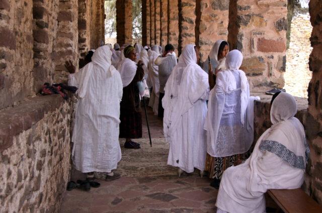 V Chrámu Debre Birhan Selassie, Etiopie