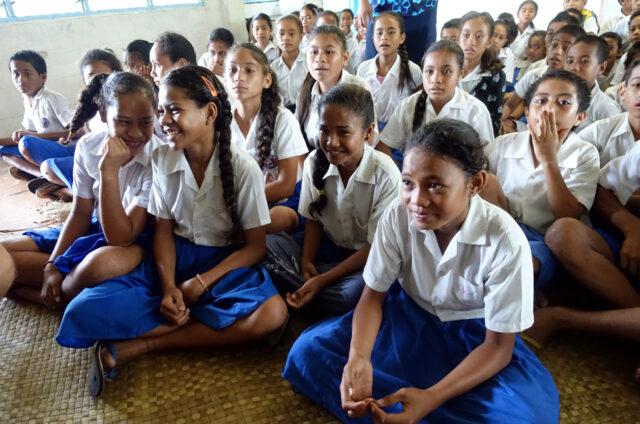 Ve škole v Asau, ostrov Savai´i, Samoa