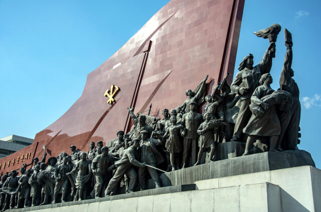 Velký monument na hoře Mansu, Pchjongjang, KLDR