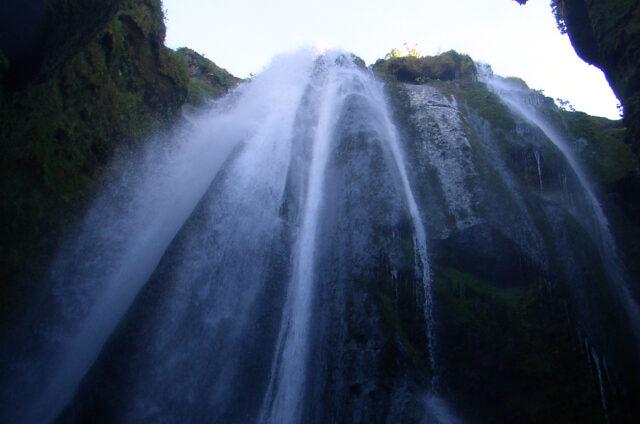 Vodopád Gljúfrafoss, Island