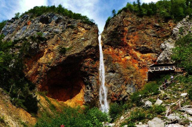 Vodopád Rinka, Logarská dolińa, Slovinsko