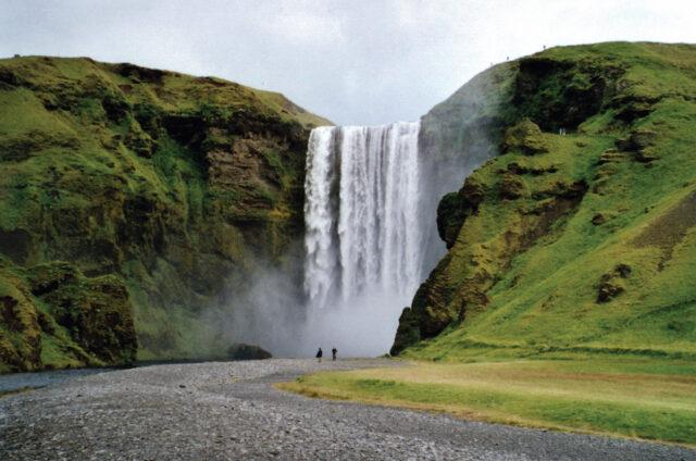 Vodopád Skógafoss, Island