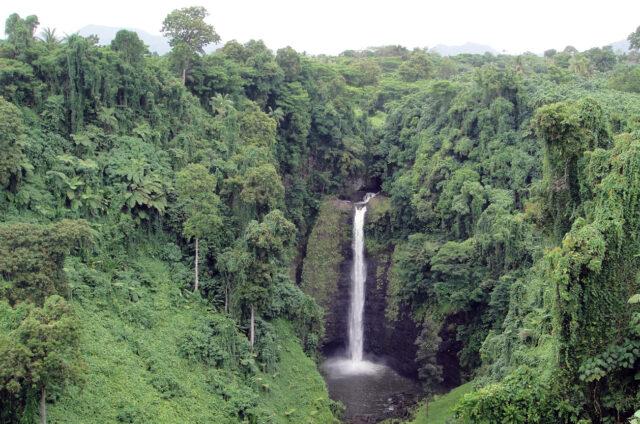 Vodopád Sopo´aga, ostrov Upolu, Samoa