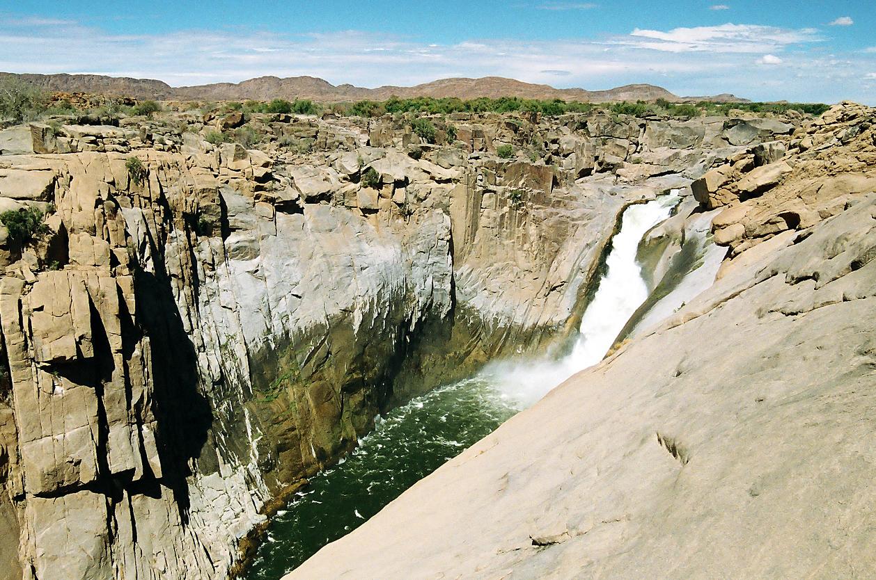 Vodopády Augrabies Falls, JAR