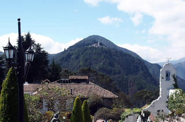 Vyhlídka na Cristo Rey, Vrch Monserrate, Kolumbie