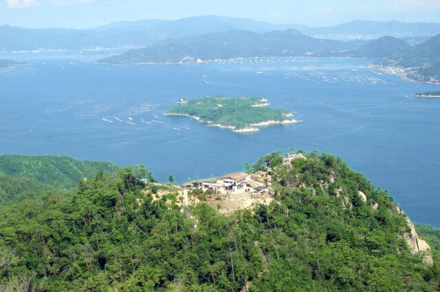 Vyhlídka z hory Misen, Mijadžima, Japonsko
