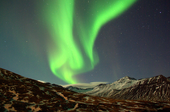 Polární záře nad Islandem, Island