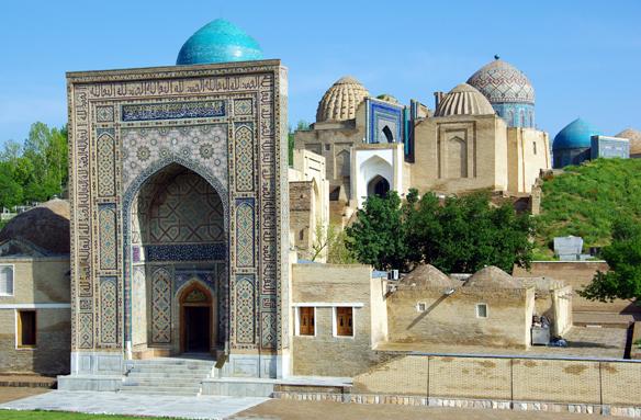 Šahi Zinda, Samarkand, Uzbekistán