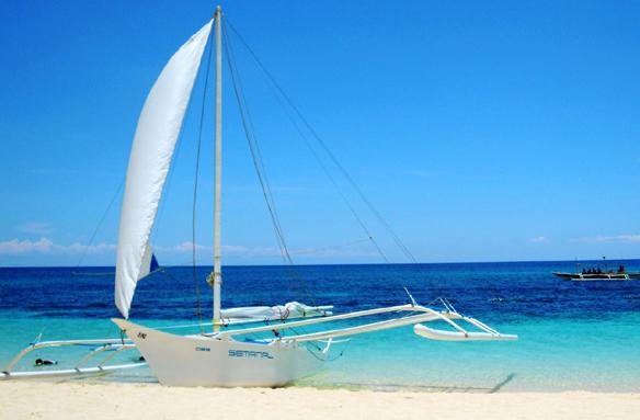 Boracay, legendární Bílá pláž, Filipíny