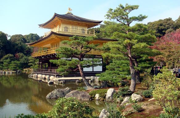 Zlatý pavilon, Kjóto, Japonsko
