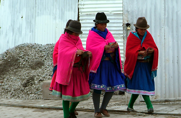 Typické oblečená ekvádorských žen, Ekvádor