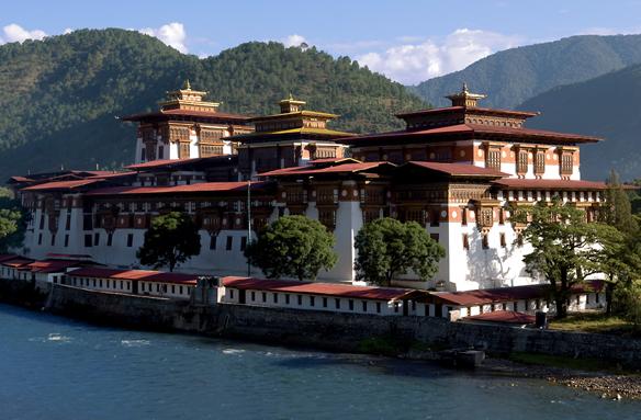 Hrad Punakha Dzong, Bhútán