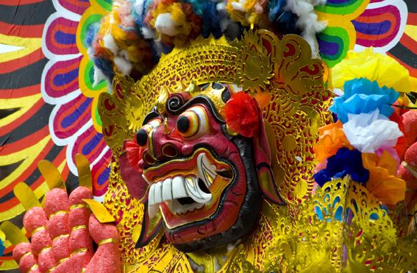Barevné masky, Bali, Indonésie