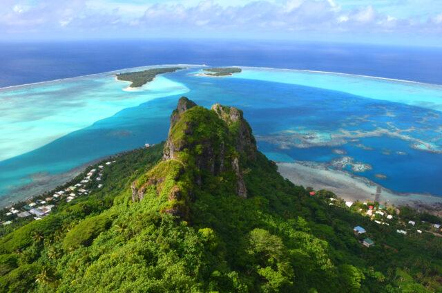 Maupiti, Mt. Teurafaatiu, Závětrné ostrovy, Francouzská Polynésie
