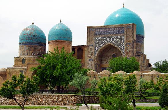 Mešita Kok Gumbaz, Šahrisabz, Uzbekistán