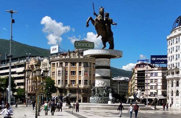 Socha Alexandra Makedonského, Skopje, S. Makedonie