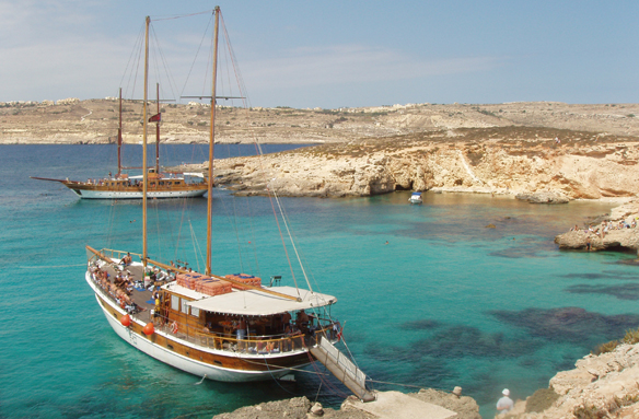 Výlet lodí na ostrov Gozo, Malta