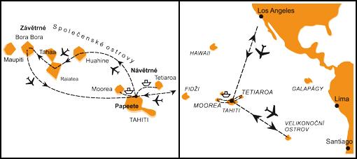 Mapa - 1184/VELIKONOČNÍ OSTROV, TAHITI, MOOREA A FRANCOUZSKÁ POLYNÉSIE – LEGENDÁRNÍ OSTROVY RÁJE