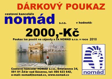 Dárkový poukaz od CK NOMÁD