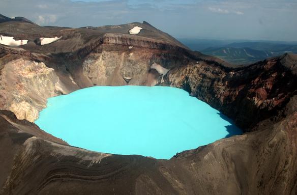 Vulkán Malý Semjačik, Kamčatka, Rusko
